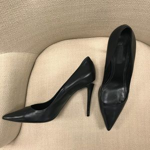 "Alexander Wang ""Tia"" Black Cutout Pumps"
